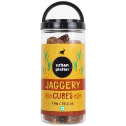 Urban Platter Jaggery Cubes, 1Kg / 35.2oz [Pure, Natural, No Preservatives Added]
