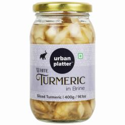 Urban Platter Sliced White Turmeric (Amba Haldi) in Brine, 400g