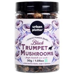 Urban Platter Black Trumpet Mushrooms, 30g / 1.05oz [Funghi Trombetti Neri Secchi]
