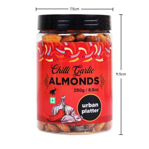 Urban Platter Chilli Garlic Almonds, 250g