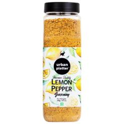 Urban Platter Lemon Pepper Seasoning Mix Shaker Jar, 500g / 18oz [Zesty & Lively]