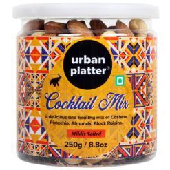 Urban Platter Cocktail Nuts Mix, 250g / 8.8oz [Healthy Mix of Pistachio, Almonds, Cashew & Black Raisins]