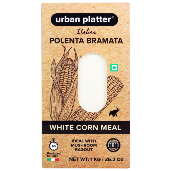 Urban Platter Italian Polenta Bramata, 1Kg / 35.2oz [White Corn Meal, Ideal with Mushroom Ragout]