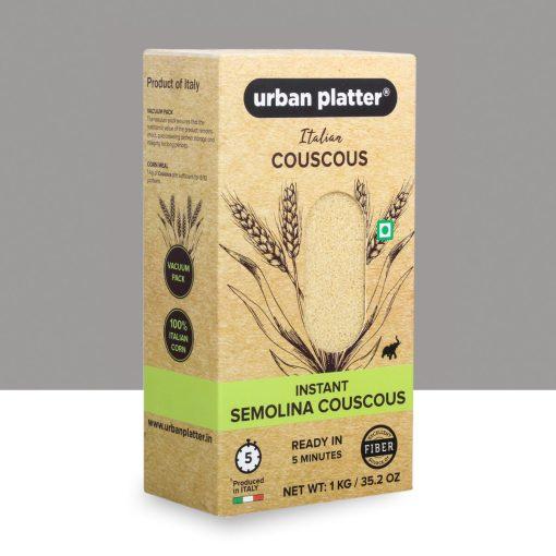 Urban Platter Instant Italian Semolina Couscous, 1Kg / 35.2oz [Vacuum Packed, High In Fiber, Ready in Minutes]