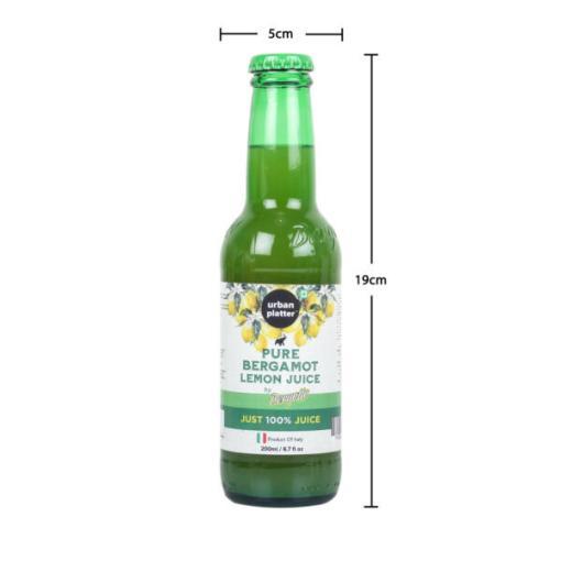 Urban Platter Pure Bergamot Lemon Juice, 200ml / 6.7fl.oz [Product of Italy]