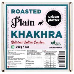 Urban Platter Crispy Roasted Plain Khakhra (Crackers), 200g [Vacuum Packed]