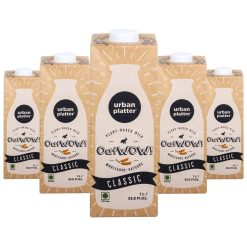 Urban Platter OatWOW Classic, 1 Litre / 35.2fl.oz [Pack of 12, Dairy-free Oat Milk, Naturally Sweet and Creamy, Lactose-free]