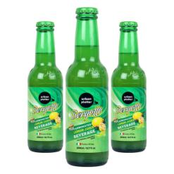 Urban Platter Bergotto Carbonated Lemon Juice Beverage, 200ml / 6.7fl.oz [Pack of 3, Product of Italy, Original Bergamot Soda]