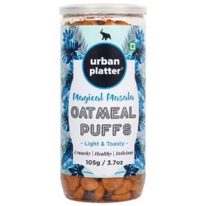 Urban Platter Magic Masala Oatmeal Puffs, 107g / 3.7oz [Light & Toasty Oat Puffs]