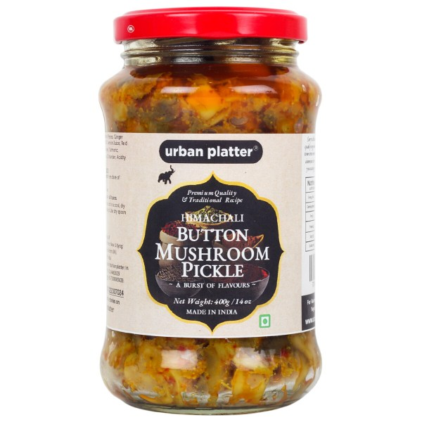 Urban Platter Himachali Mushroom Pickle (Achaar), 400g / 14oz [Traditional Recipe, Flavoursome]