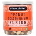 Urban Platter Peanut Golden Raisin Fusion, 300g / 10.5oz [Mix of Peanut & Golden Raisins]