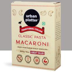Urban Platter Traditional Italian Classic Macaroni Pasta, 1kg [500g x Pack of 2, Made from Durum Wheat Semolina]