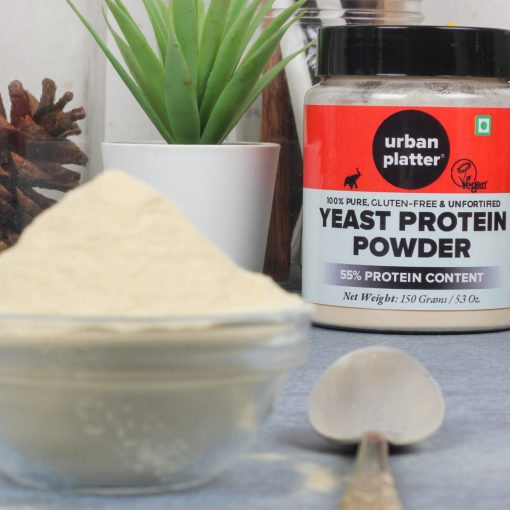 Urban Platter Unfortified Yeast Protein Powder, 150g / 5.3oz [Nutritional, Gluten-Free, 55% Protein]