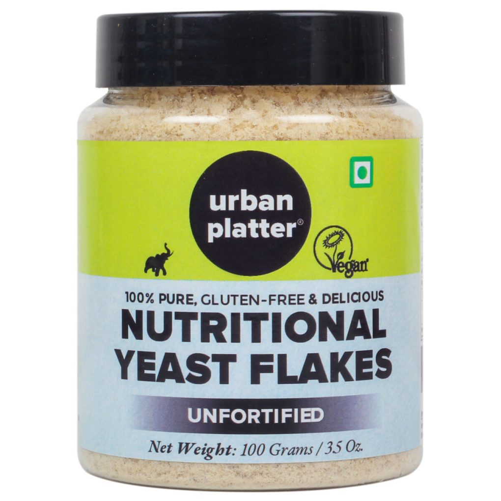 Urban Platter Unfortified Yeast Flakes, 100g / 3.5oz [Nutritional, Gluten-Free, Tastes like Cheese]