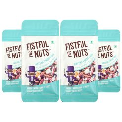Fistful of Nuts, Anytime Energy Mix, A Mix of Roasted Nuts Seeds & Berries, 45g x Pack of 4