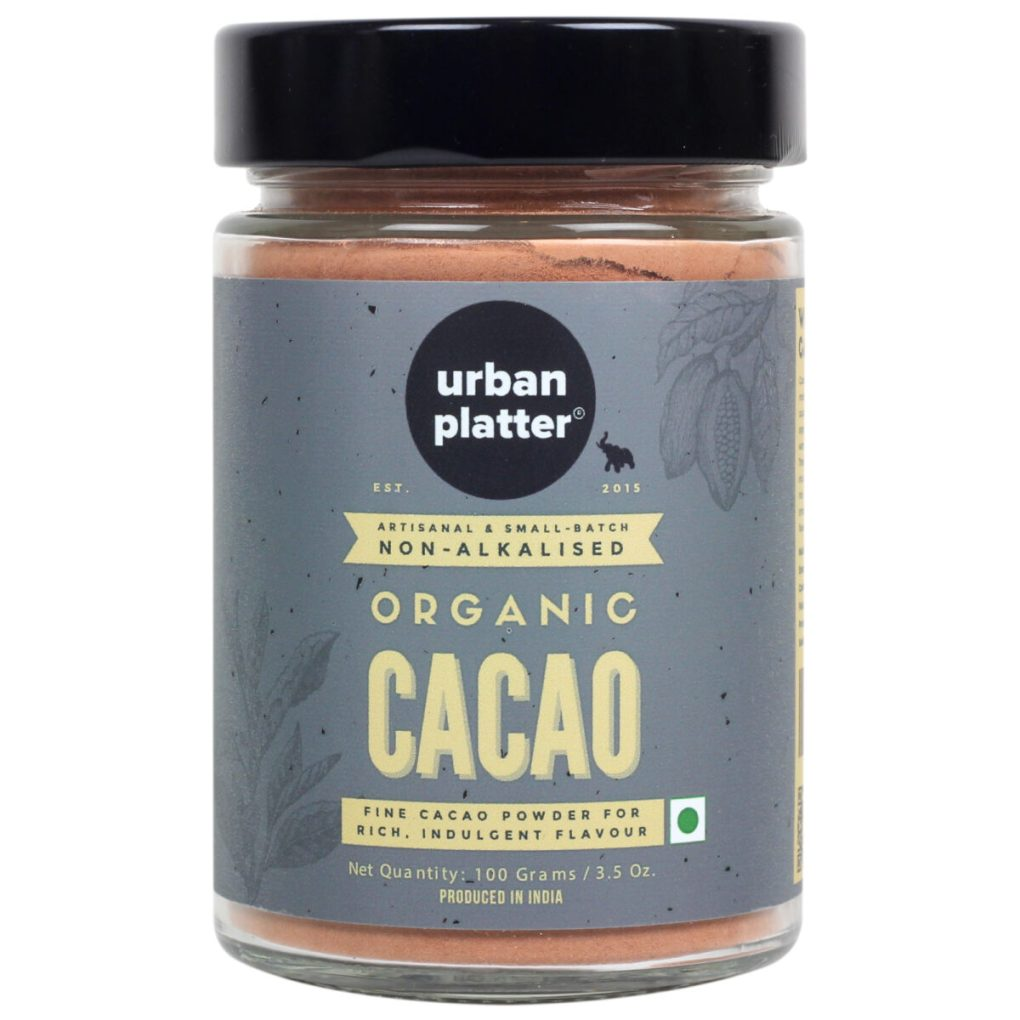 Urban Platter Non-Alkalized Organic Cacao Powder, 100g