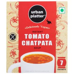 Urban Platter Vegan Instant Chatpata Tomato Cup Soup, 161g (7 Sachets)