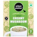 Urban Platter Vegan Instant Creamy Mushroom Cup Soup, 140g (7 Sachets)
