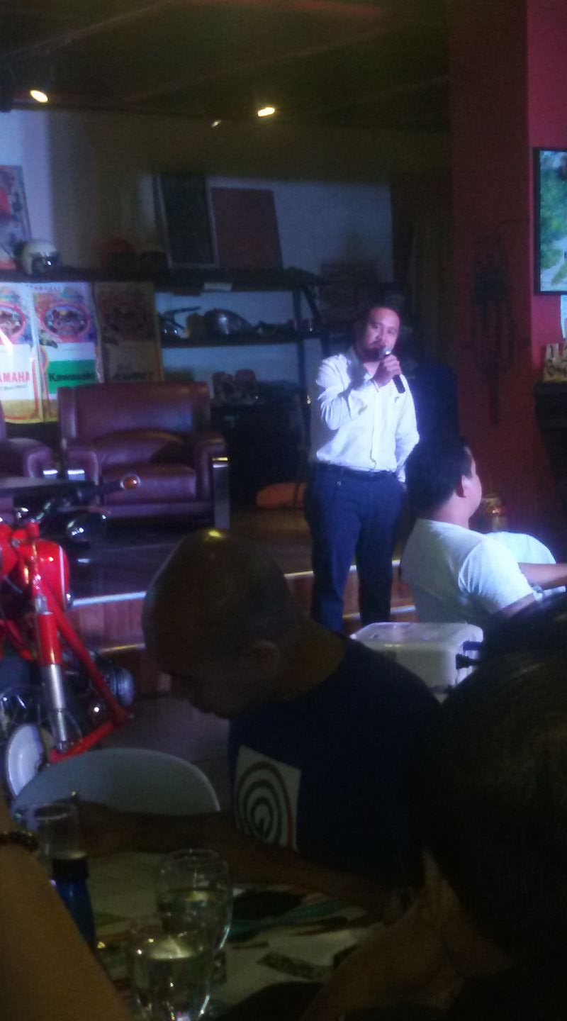 Aldous Alingog, General Manager, Ropali Motorcycles, Partakan Festival press conference