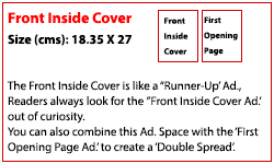 Front Inside Cover (Rs. 250,000)