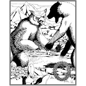 Owl Bear Poster