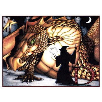 Full color dragon poster and cards