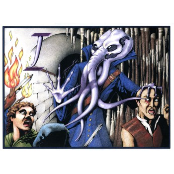 Colored Illithid Poster and Cards