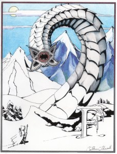 Frost worm poster or cards