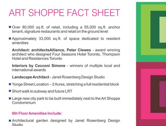 ART SHOPPE CONDOS FACT SHEET 1