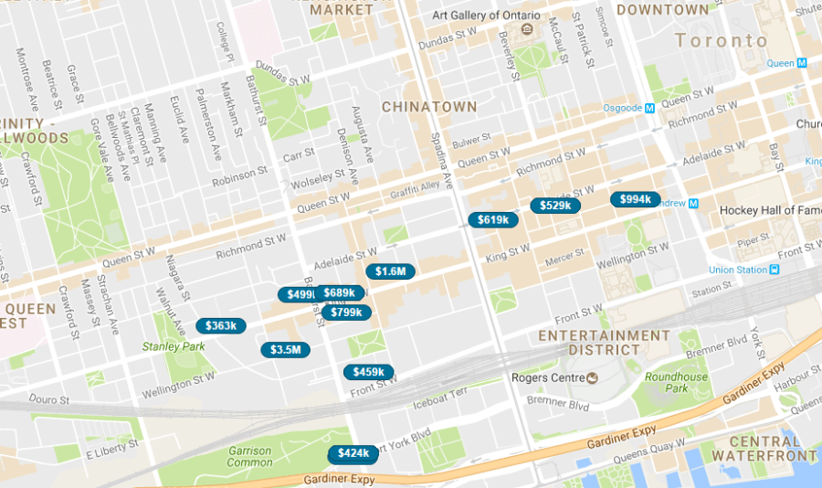 KING WEST CONDOS - LIVE MAP SEARCH