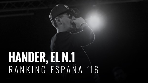 Hander es el campeón del Ranking Freestyle España 2016 después de un año cargado de victorias.