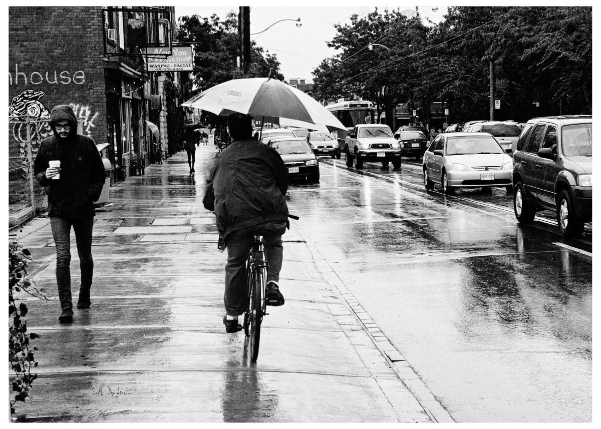 Biking In The Rain