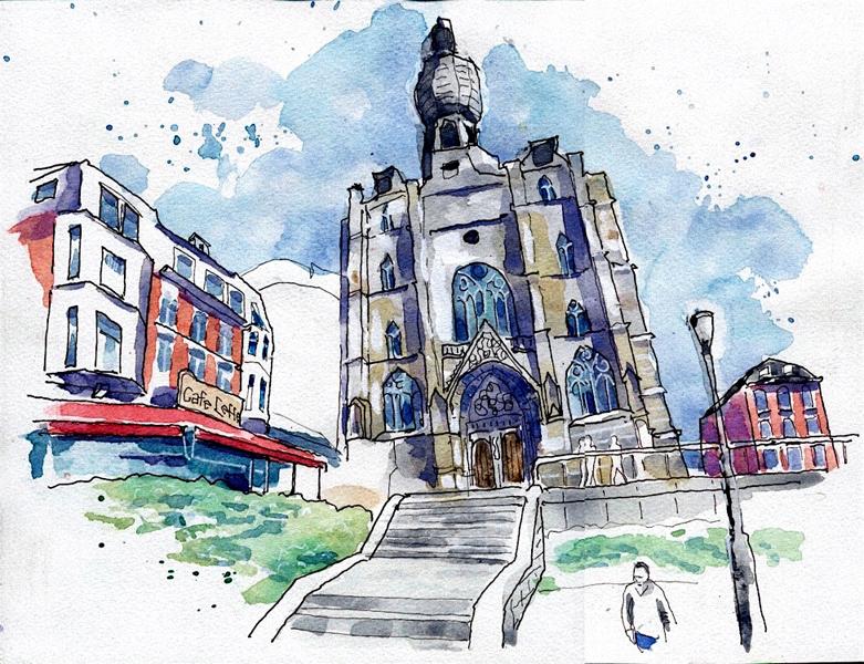 Urban Sketching in tijden van corona: Peter Flohr