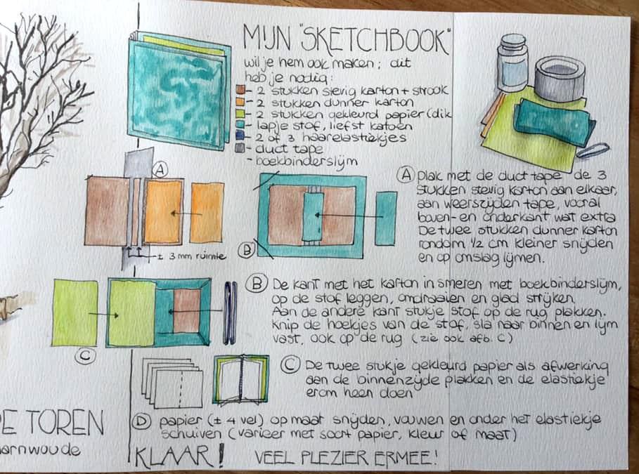 Maak zelf het Sketchbook van Gertie