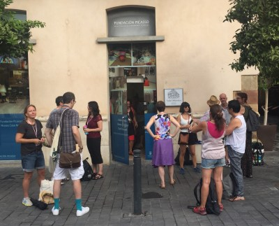 Uppsamling utanför Fundación Picasso