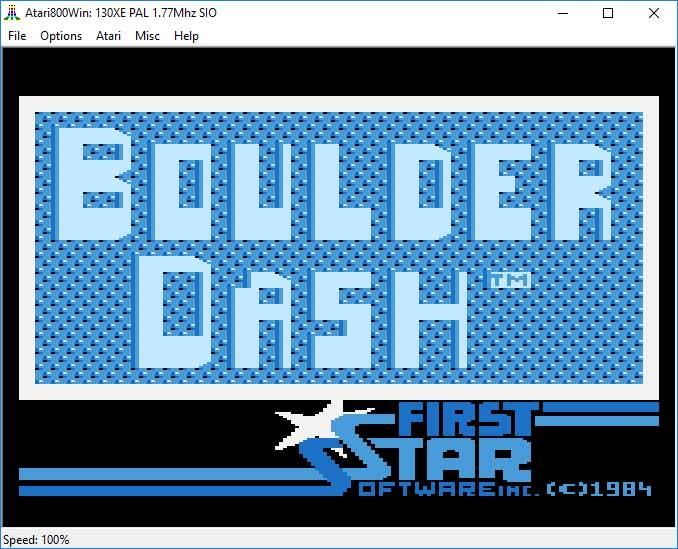 """Emulator Atari800Win - gra """"Boulder Dash"""""""