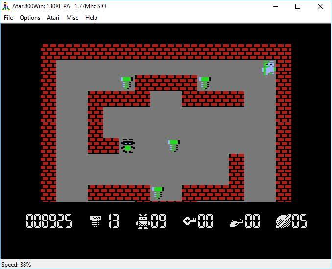 "Emulator Atari800Win - gra ""Robbo"""