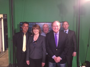 Ray Hanania, Kathy Salvi, Bruce DuMont, Ron Gibbs and Karl Friedhof