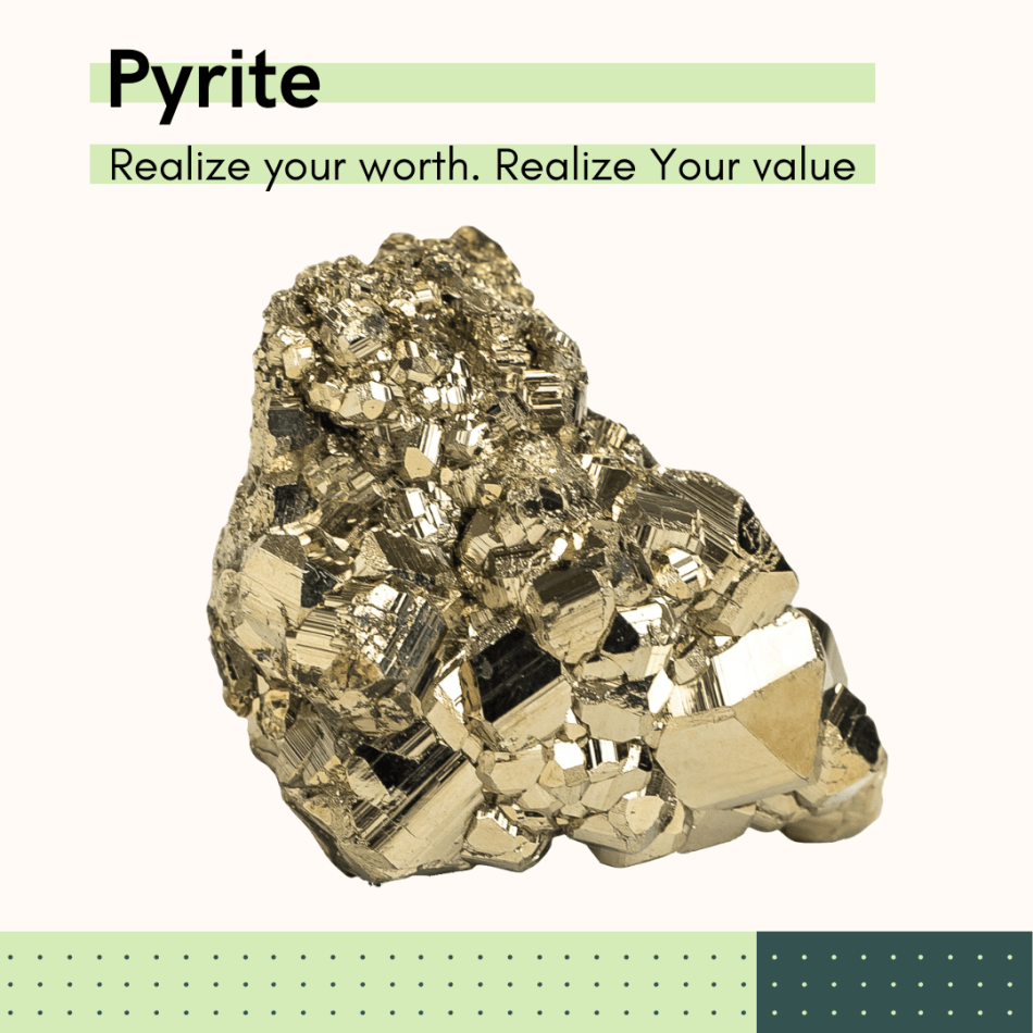Pyrite Fools Gold, The New Moon in Taurus Crystal to Guide your Way. Earth Day, Reflective, Pathway