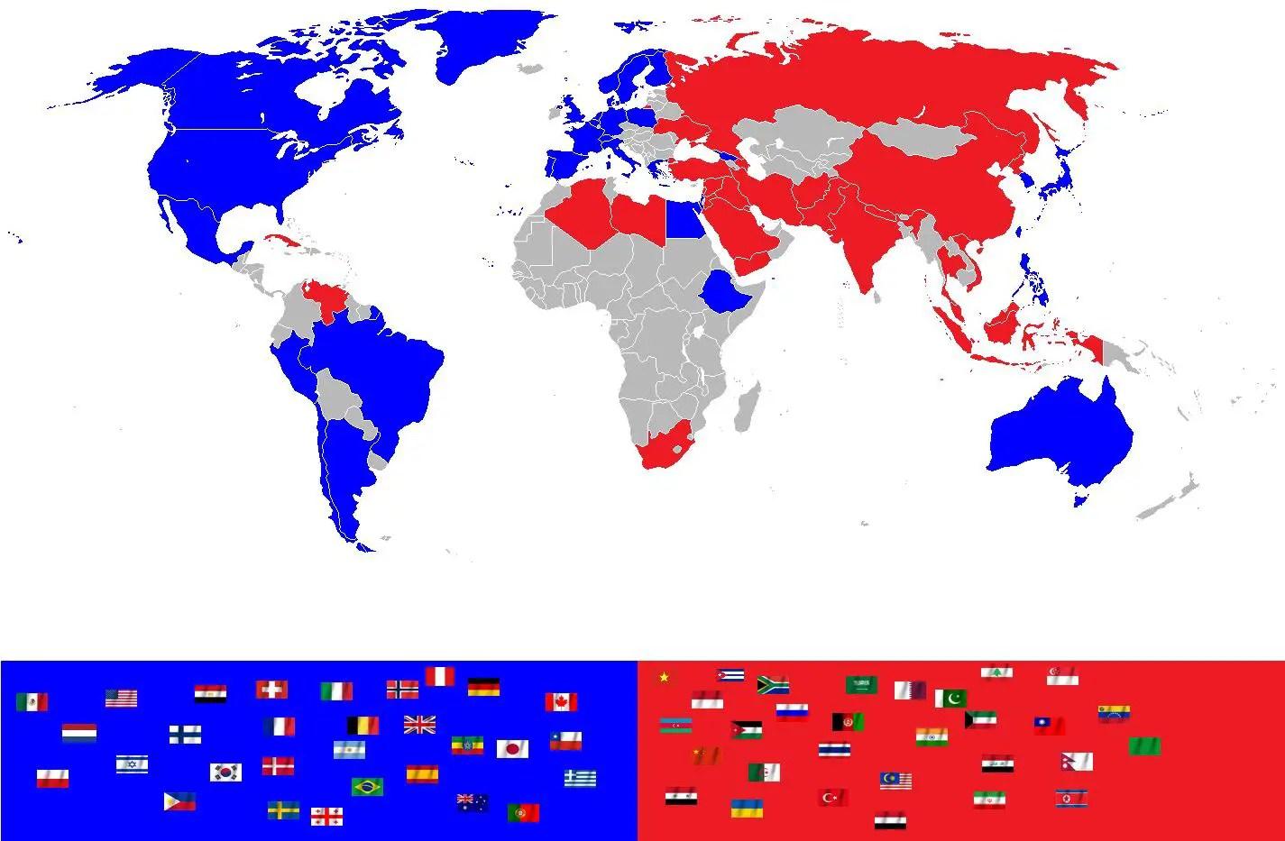 Terza guerra mondiale - schieramenti
