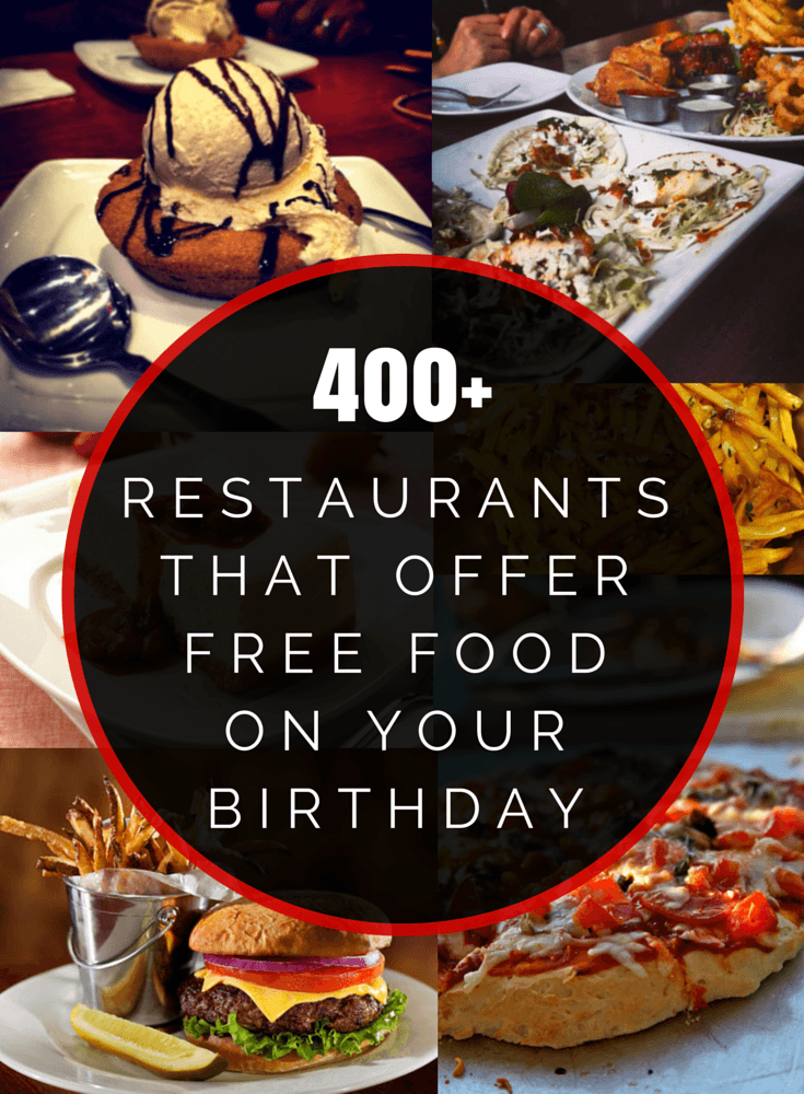 400 Restaurants That Offer Free Food On Your Birthday