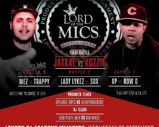 Lord Of The Mics 7 – Row D & XP Hype Sessions #LOTM7 (23rd Sept)