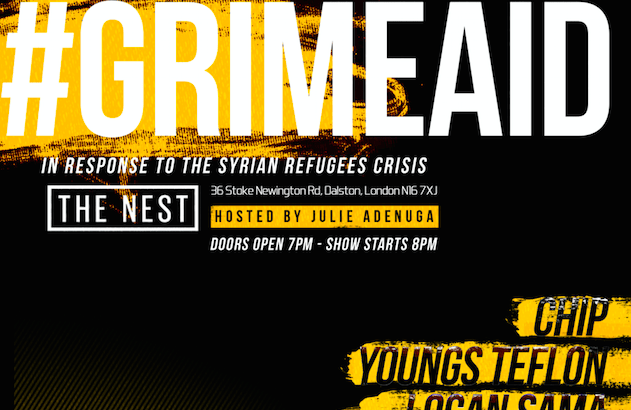 #GrimeAid – In Response To The Syrian Refugee Crisis @ The Nest, London, UK (19th Oct)