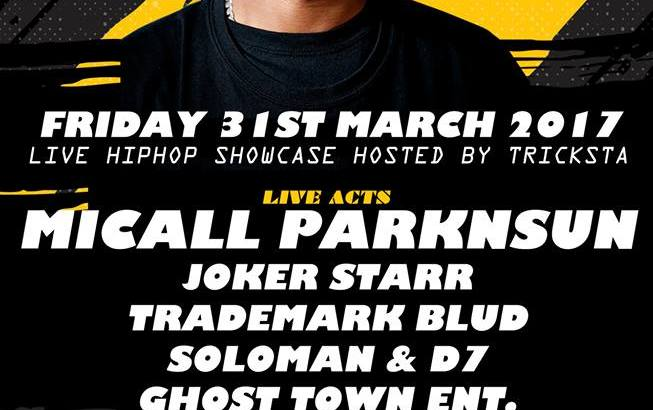 BEATS & BARS BIRMINGHAM Presents: MICALL PARKNSUN & JOKER STARR @ Cogs Bar, Birmingham, UK (31st March)