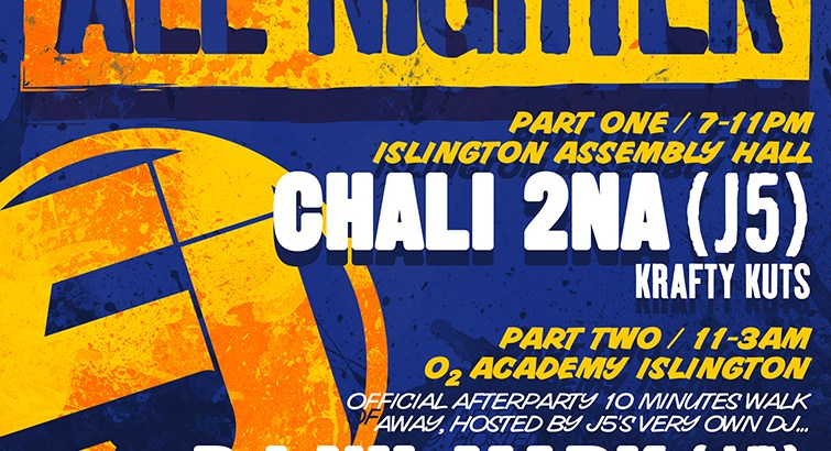 nighter ft. Chali 2na (J5), DJ Nu-Mark (J5) + more, Islington, London, UK (17th Feb)