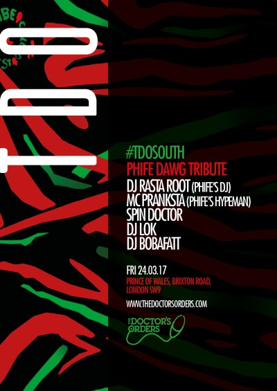 TDO South : Phife Dawg Tribute @ POW Brixton, London, UK (24th March)