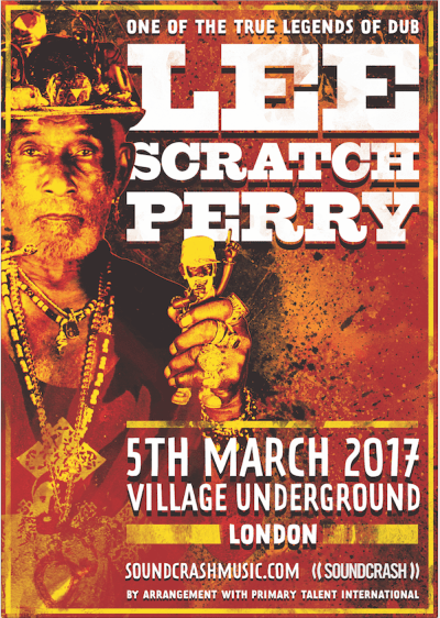 Soundcrash Presents: Lee Scratch Perry @ Village Underground, London, UK (05th March)
