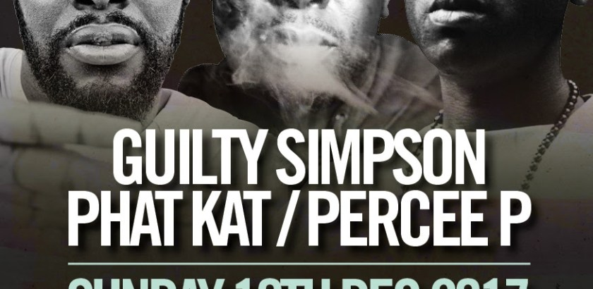 The Doctor's Orders Presents: Guilty Simpson, Phat Kat & Percee P @ Miranda, Ace Hotel, London, UK (10th Dec)