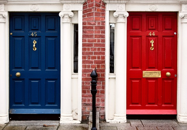 Blue and Red Doors. Photo by Michael Osmenda
