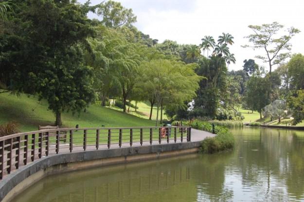 Symphony Lake in the Singapore Botanic Gardens, Singapore